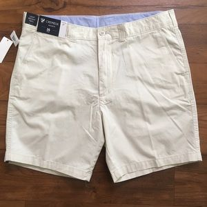 """Cremieux Madison Light Twill Khaki Golf Shorts 7"""""""